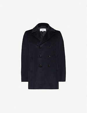 REISS Sacro wool-blend peacoat