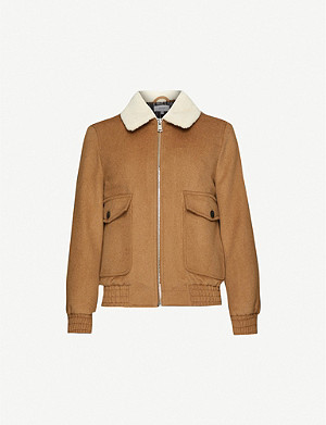 REISS Rivet wool-blend jacket