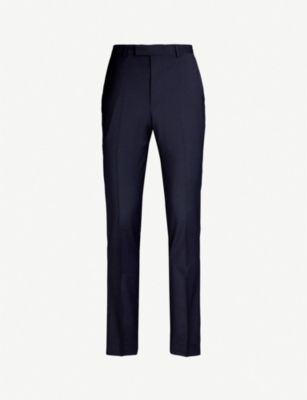 REISS Wander slim-fit tapered wool-blend trousers