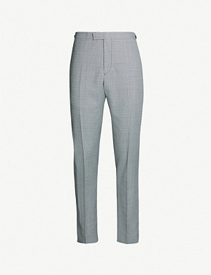 REISS Wangle checked mixer slim-fit wool-blend suit trousers