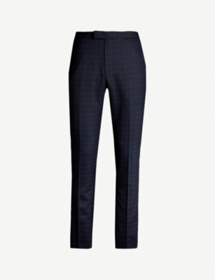 REISS Gritton slim-fit tapered wool-blend trousers
