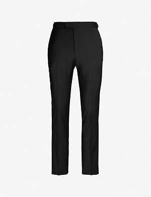 REISS Hope slim-fit tapered wool-blend trousers