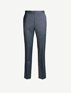 REISS Shark slim-fit tapered wool trousers