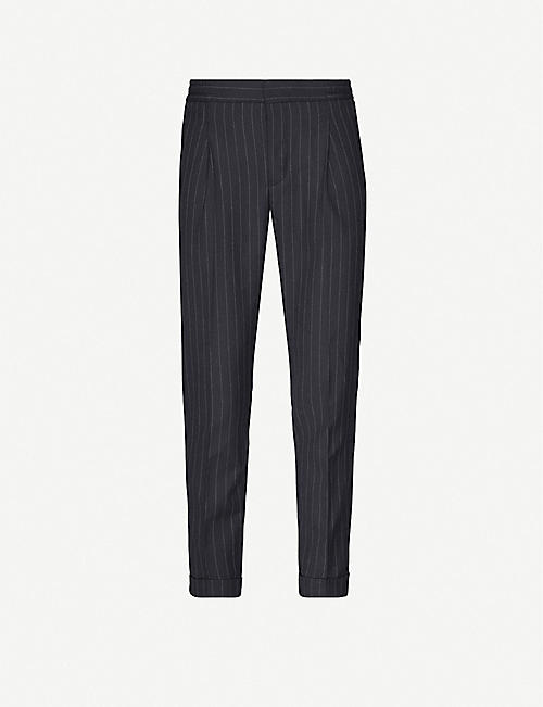 REISS Pape pinstriped wool-blend trousers