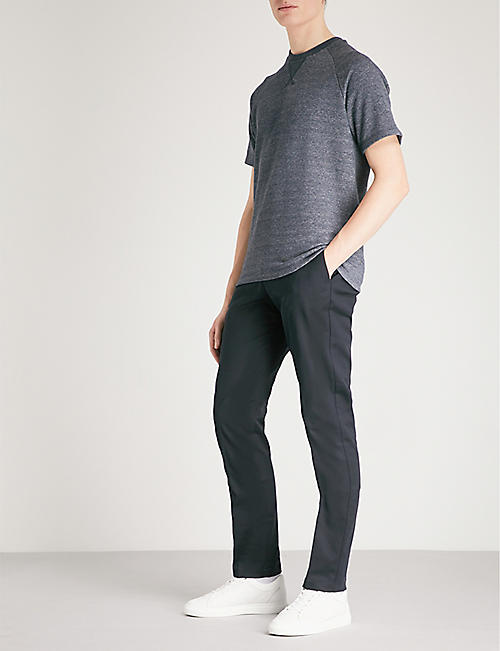 REISS Westbury slim-fit tapered stretch-cotton trousers