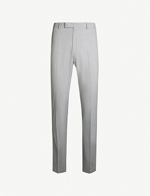 REISS Gilly slim-fit tapered crepe trousers