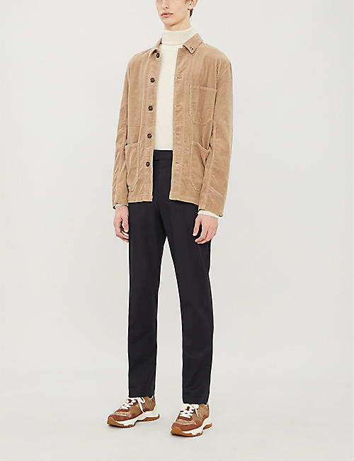 REISS Eastbury slim-fit straight stretch-cotton trousers