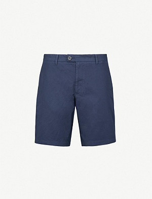 REISS Wicker regular-fit straight cotton chino shorts