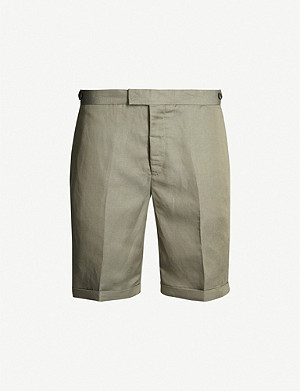REISS Cash regular-fit linen-blend shorts