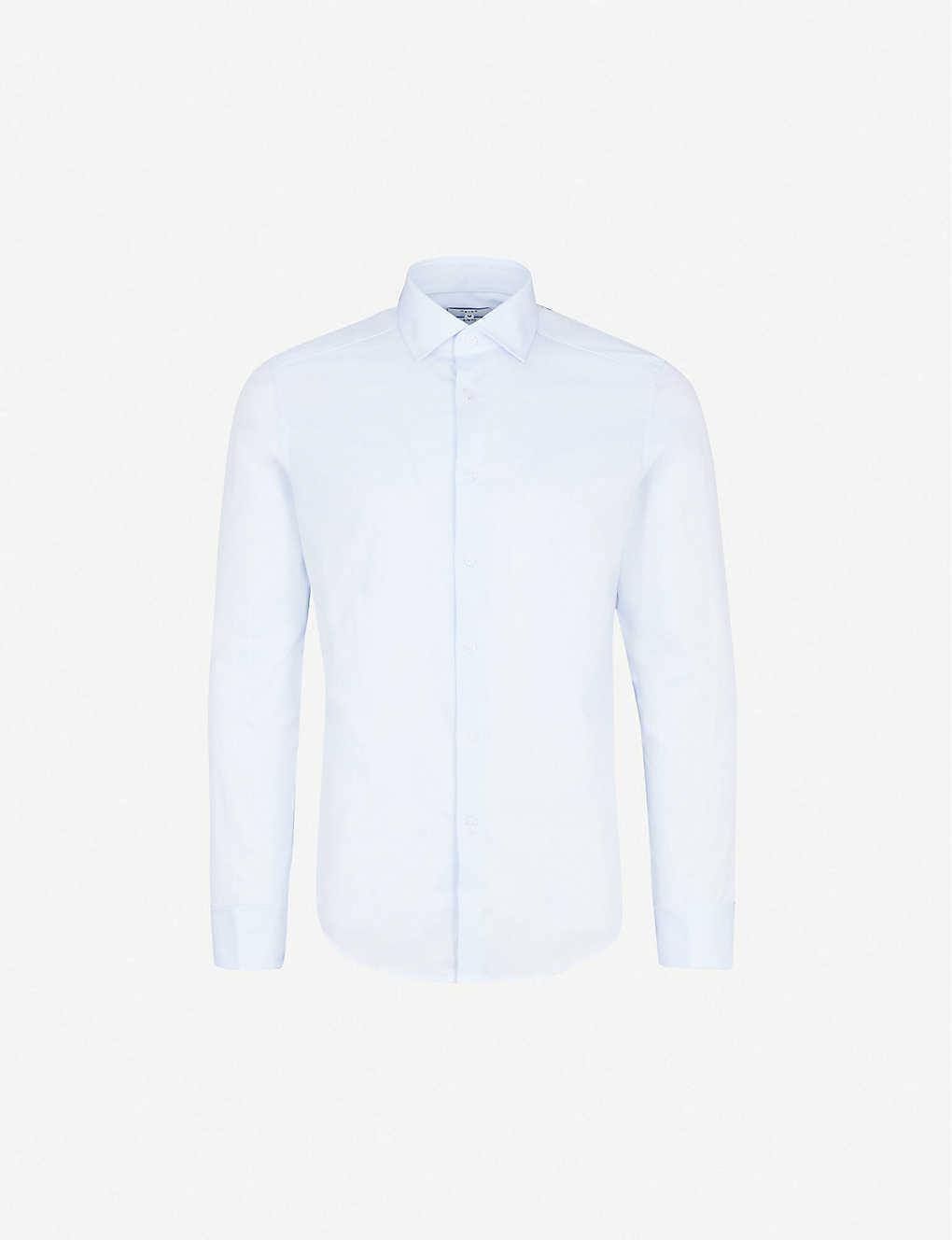 d30021e883f2 REISS - Detroller slim-fit cotton-twill shirt | Selfridges.com