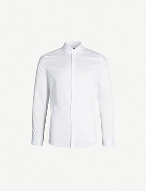 REISS Detroller slim-fit cotton-twill shirt