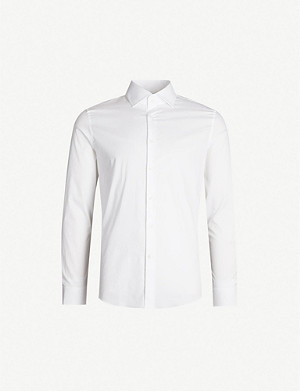 REISS Oxider slim-fit cotton-poplin shirt