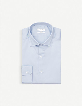 REISS: Remote slim-fit cotton shirt