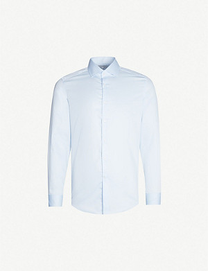 REISS Remote slim-fit cotton shirt