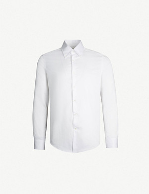 REISS Redsnap slim-fit button down cotton shirt