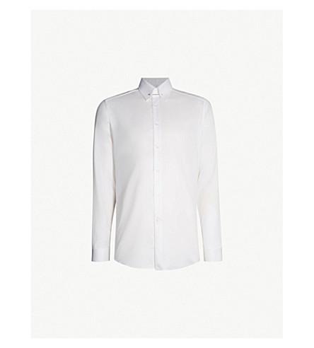 8125221f635 REISS Caldwell slim-fit cotton-twill collar bar shirt (White