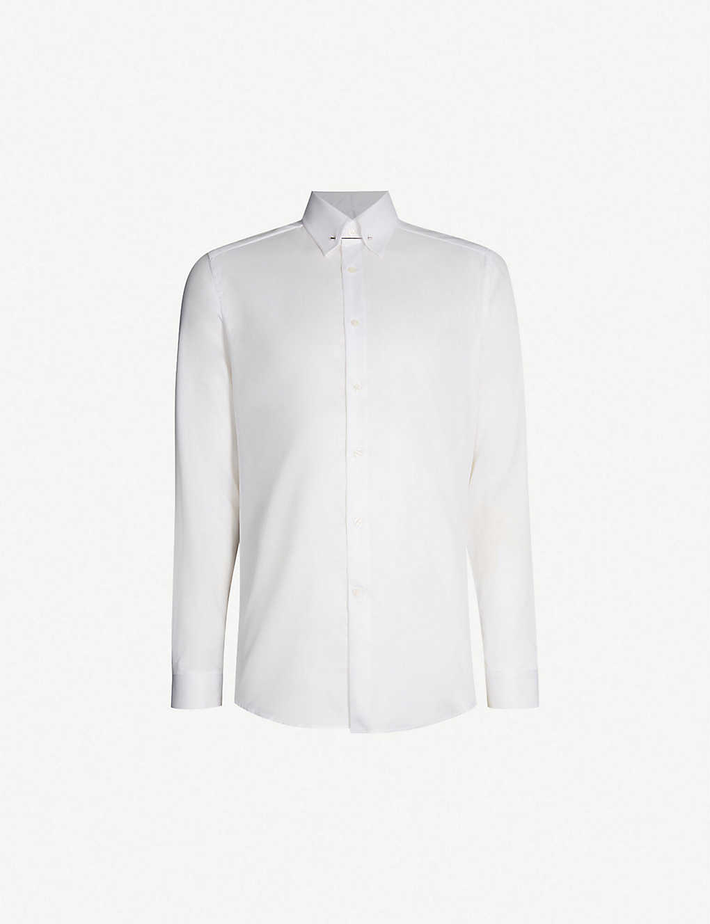 2047b798c921 REISS - Caldwell slim-fit cotton-twill collar bar shirt | Selfridges.com