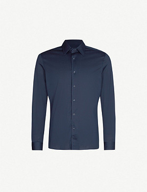 REISS Florence mercerised cotton shirt