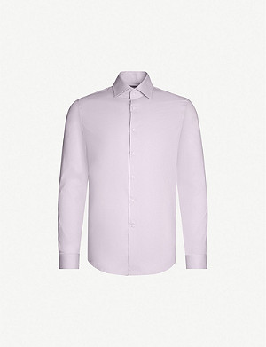 REISS Oxider slim-fit stretch-cotton shirt