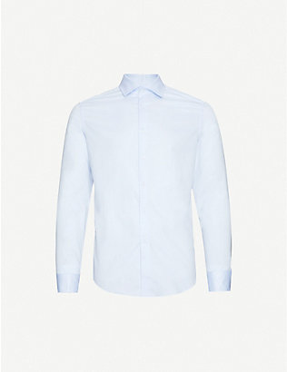 REISS: Detroller slim-fit cotton-twill shirt