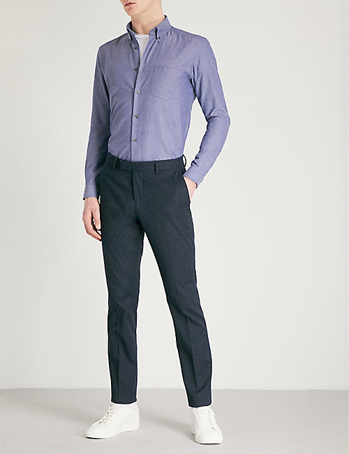 REISS Ainslee slim-fit cotton-poplin Oxford shirt
