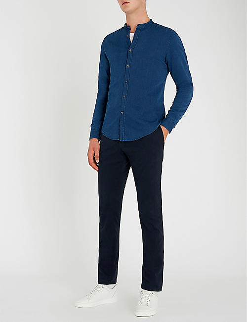 78404390 REISS Caffrey slim-fit cotton-piqué shirt