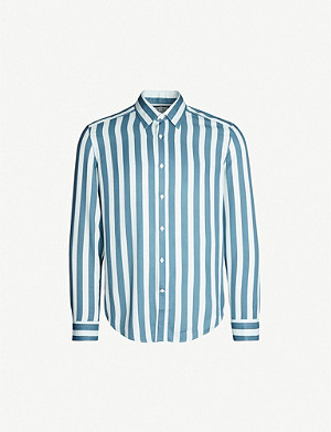 REISS Kawl slim-fit striped woven-twill shirt