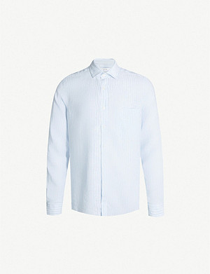 REISS King linen and modal-blend shirt