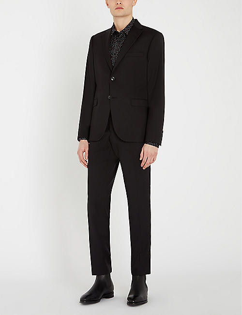 REISS Enzo abstract dot-print slim-fit shirt