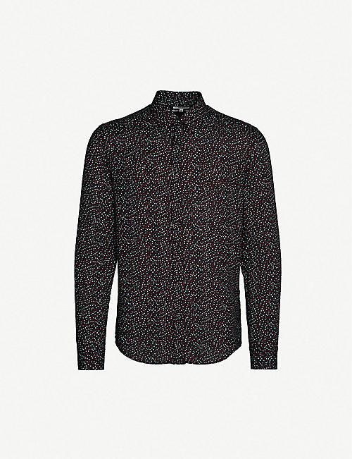 7c0712c37 REISS Enzo abstract dot-print slim-fit shirt