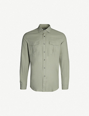 REISS Cage woven shirt