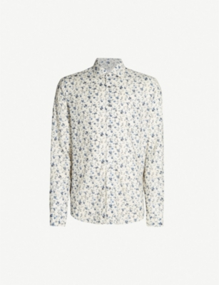 REISS Wesley slim-fit woven shirt