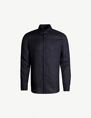 REISS Ronnie slim-fit linen shirt
