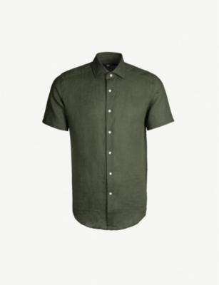 REISS Morrezmo slim-fit linen shirt