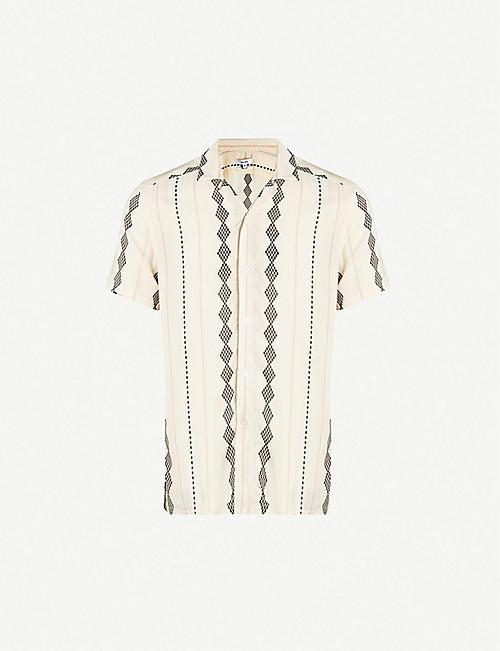 af9f9af63 REISS Stevie diamond-pattern slim-fit woven shirt