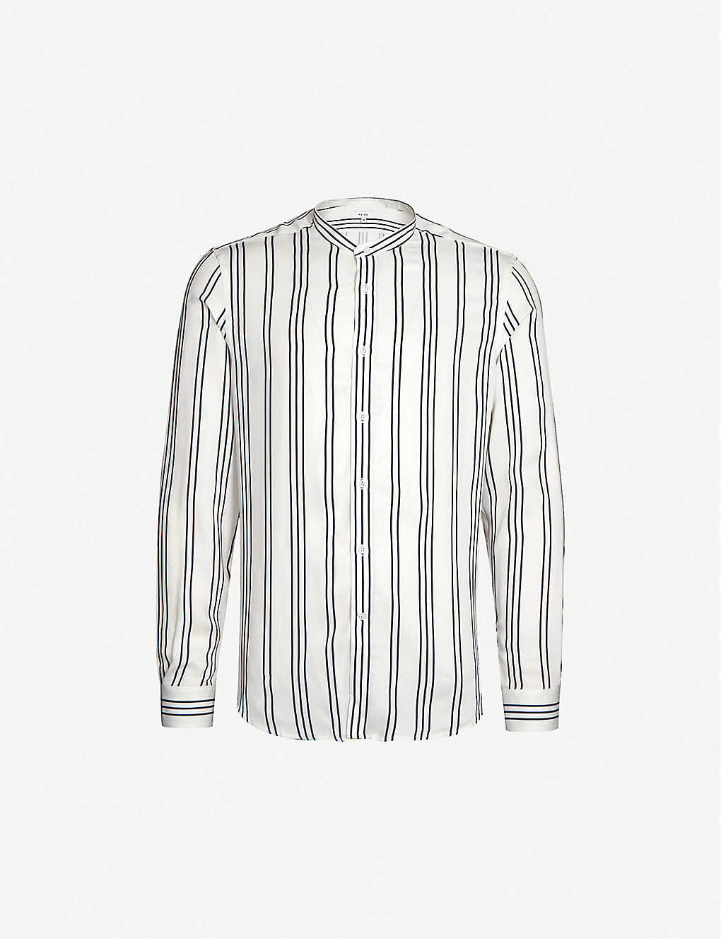 REISS: Yorker striped slim-fit crepe shirt