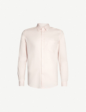 REISS Blanco long-sleeved slim-fit cotton shirt