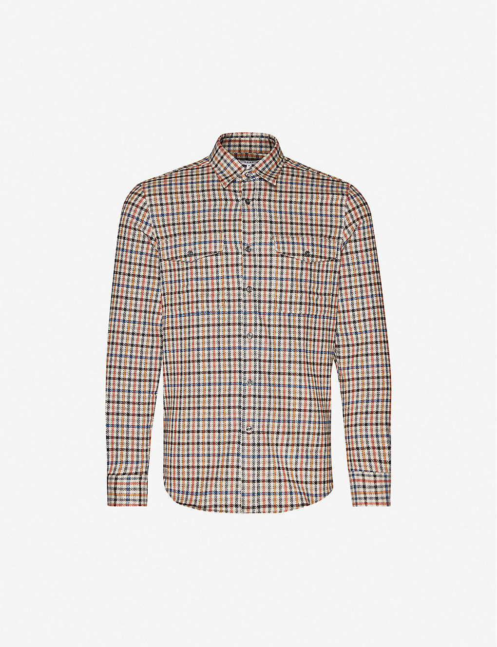 REISS: Ash slim-fit cotton-flannel shirt