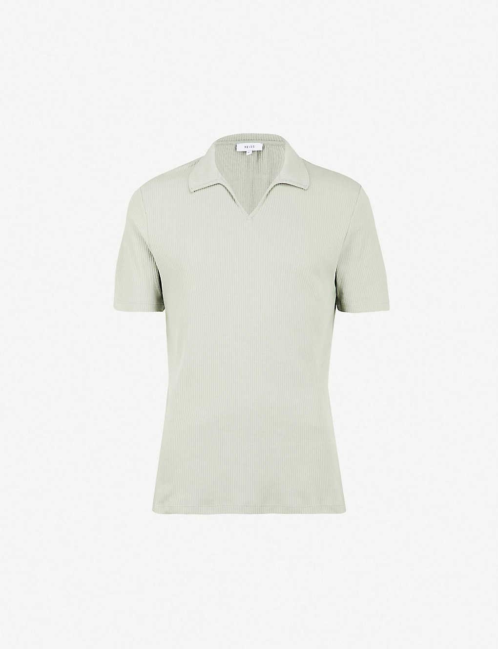 cca87317f REISS - Starlight ribbed-cotton polo shirt
