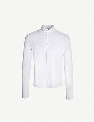 REISS Gosforth slim-fit cotton-pique shirt