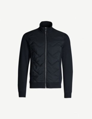 REISS Alban stretch-cotton jersey and shell jacket
