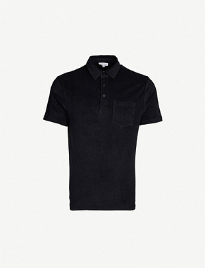 REISS Venice towelling polo shirt
