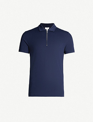 REISS Jack cotton-jersey polo shirt