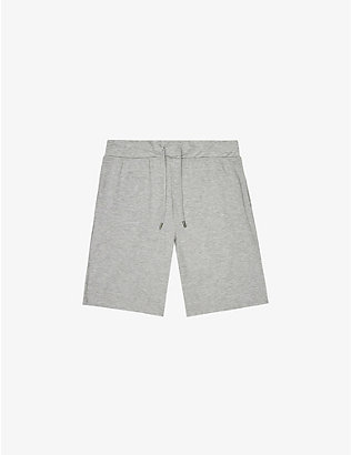 REISS: Hunt cotton-jersey shorts