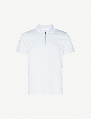 REISS Berry cotton-pique polo shirt