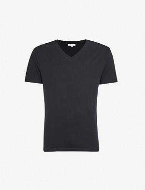 REISS Dayton V-neck cotton-jersey T-shirt