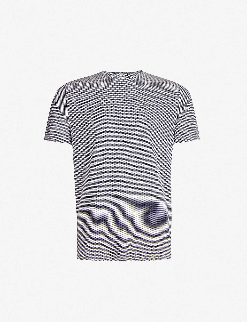 REISS: Cole textured stretch-cotton T-shirt