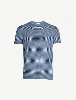 REISS Ridley striped cotton-blend T-shirt