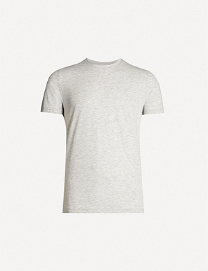 REISS Bless marl cotton-jersey T-shirt