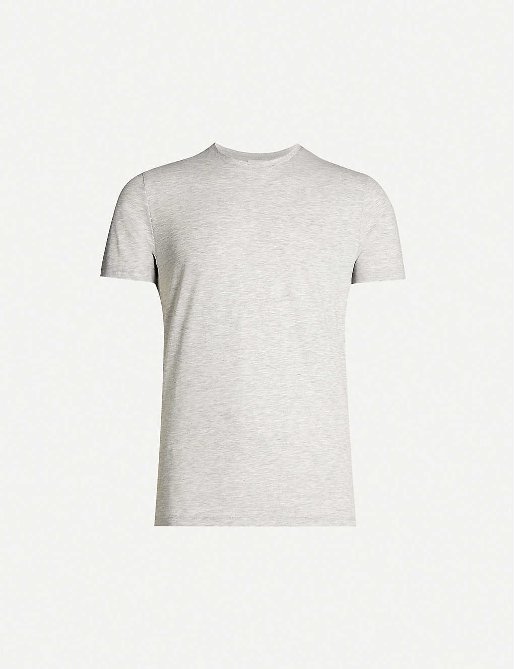 REISS: Bless marl cotton-jersey T-shirt